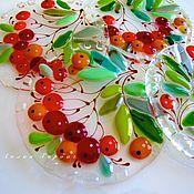 Для дома и интерьера handmade. Livemaster - original item the support of the glass, fusing the Pock. Handmade.