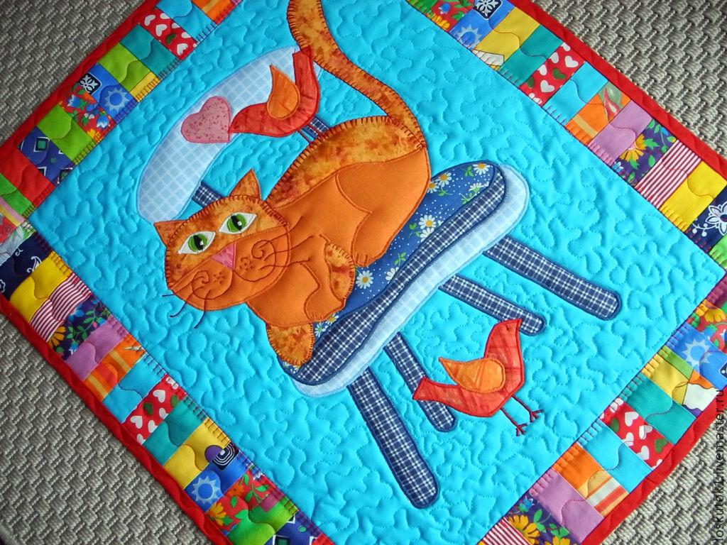Аппликация на одеяле
