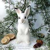 Куклы и игрушки handmade. Livemaster - original item Run-around Bunny / wool Bunny / hare interior toy. Handmade.