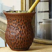 Посуда ручной работы. Ярмарка Мастеров - ручная работа Калабас керамический поронго с фактурой. Handmade.