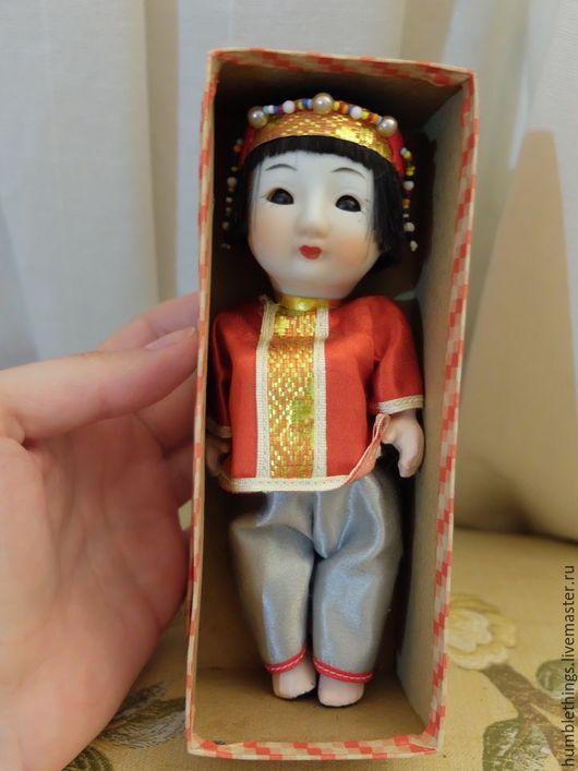 Коллекционные куклы ручной работы. Ярмарка Мастеров - ручная работа. Купить Антикварная японская обучающая куколка. Handmade. Бежевый, фарфор