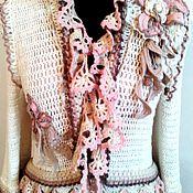Одежда ручной работы. Ярмарка Мастеров - ручная работа Весеннее платье-пальто в стиле Бохо-шик.. Handmade.