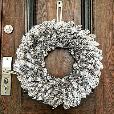 Для дома и интерьера ручной работы. Ярмарка Мастеров - ручная работа Венок на дверь 60 см. Handmade.