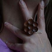 Украшения ручной работы. Ярмарка Мастеров - ручная работа Кольцо деревянное Пчелиные соты. Handmade.