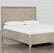 Дизайнерская двуспальная кровать из массива с высоким изголовьем Адель