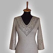 Одежда ручной работы. Ярмарка Мастеров - ручная работа Платье с ажурной кокеткой. Handmade.