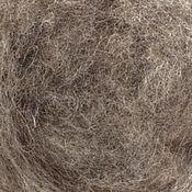 Шерсть кардочес Бергшаф натуральный серый 100 гр
