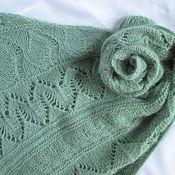 Аксессуары handmade. Livemaster - original item Scarf scarf Bacchus mini shawl mint green. Handmade.