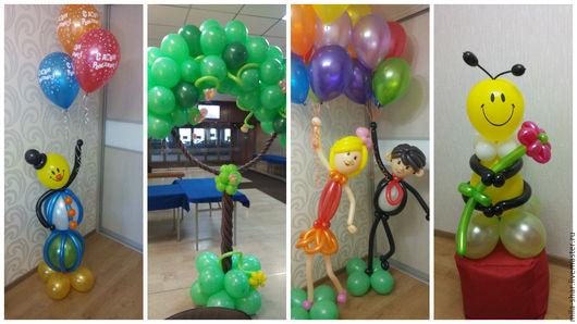Праздничная атрибутика ручной работы. Ярмарка Мастеров - ручная работа. Купить воздушные шары. Handmade. Воздушные шары, гелиевые шары