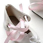 Винтаж ручной работы. Ярмарка Мастеров - ручная работа Туфли для куклы № 1. Handmade.