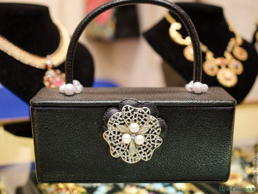 Винтажные сумки и кошельки. Ярмарка Мастеров - ручная работа. Купить Винтажная кожаная сумочка. Handmade. Черный, женская сумка, аксессуары