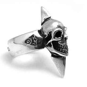 Украшения ручной работы. Ярмарка Мастеров - ручная работа Кольцо из серебра Skull Cross PPR40-01. Handmade.