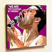 Картины и панно handmade. Livemaster - original item Picture poster Pop Art Freddie Mercury 2 band Queen in the style of Pop art. Handmade.