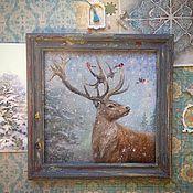 """Картины и панно ручной работы. Ярмарка Мастеров - ручная работа Картина """"Король леса"""".. Handmade."""