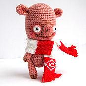 """Куклы и игрушки ручной работы. Ярмарка Мастеров - ручная работа Игрушка """"Поросенок Фанат"""". Handmade."""
