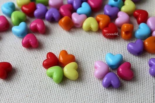 Для украшений ручной работы. Ярмарка Мастеров - ручная работа. Купить Бусины сердечки 10х12 мм. Handmade. Бусины