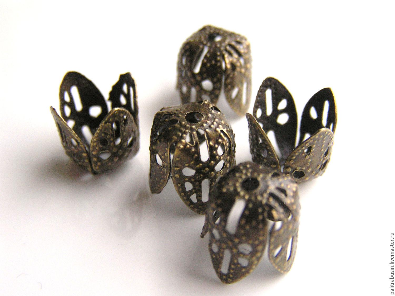 All for Jewelry Making handmade. Livemaster - handmade. Buy Cap beads filigree.Accessories, bead caps