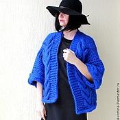 "Одежда ручной работы. Ярмарка Мастеров - ручная работа Пальто-накидка ""Royal Blue"". Handmade."