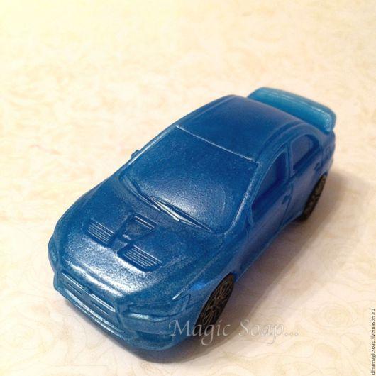 """Мыло ручной работы. Ярмарка Мастеров - ручная работа. Купить мыло Авто Мицубиси( """"Mitsubishi Lancer""""). Handmade. Синий, машина"""