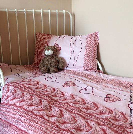 Текстиль, ковры ручной работы. Ярмарка Мастеров - ручная работа. Купить Комплект постельного белья (пододеяльник и наволочка). Handmade.