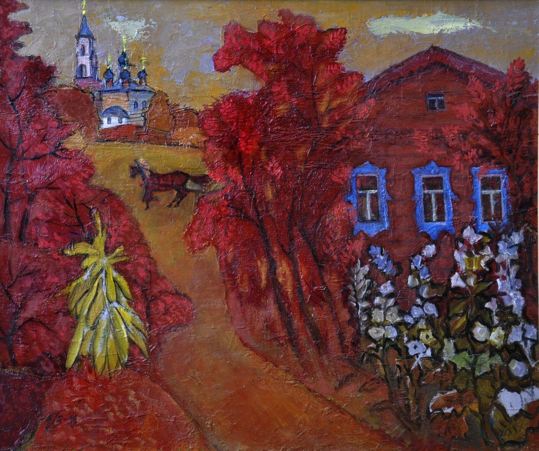 Пейзаж Красная осень в Тартарово. Владимирская область, Картины, Архангельск,  Фото №1