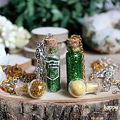 Украшения handmade. Livemaster - original item Pendant jar with potion Harry Potter Slytherin poison Basilisk green. Handmade.
