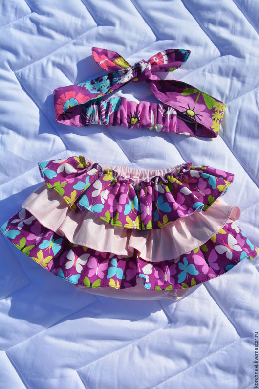 Одежда для девочек, ручной работы. Ярмарка Мастеров - ручная работа. Купить Трусики на памперс - блумеры с повязкой. Handmade. Блумеры