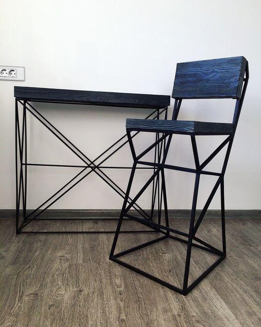Мебель ручной работы. Ярмарка Мастеров - ручная работа. Купить Стул в стиле Лофт (барный стул). Handmade. Лофт стиль