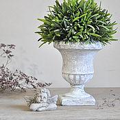 Цветы и флористика handmade. Livemaster - original item Concrete pot Antique for decor and floral design, pot Provence. Handmade.