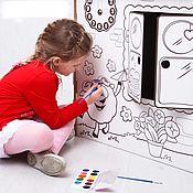 Раскраски ручной работы. Ярмарка Мастеров - ручная работа Дом раскраска из картона. Handmade.