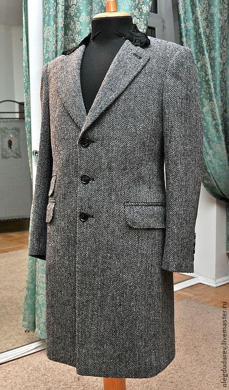 Верхняя одежда ручной работы. Ярмарка Мастеров - ручная работа. Купить зимнее пальто. Handmade. Чёрно-белый, женское пальто