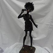 Куклы и игрушки ручной работы. Ярмарка Мастеров - ручная работа кукла негритянка Черный джаз. Handmade.