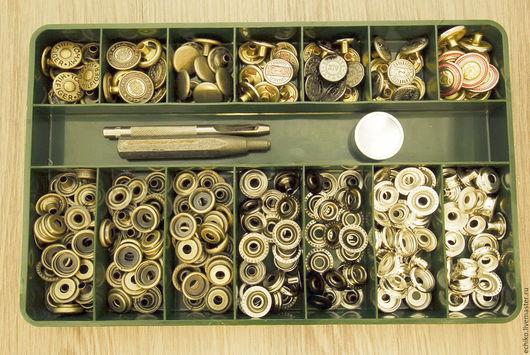 Комплекты аксессуаров ручной работы. Ярмарка Мастеров - ручная работа. Купить 15мм Кнопки для одежды с инструментом для установки 70 шт. Handmade.