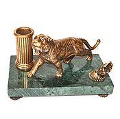 Канцелярские товары handmade. Livemaster - original item set tiger pencil stand and pen stand. Handmade.