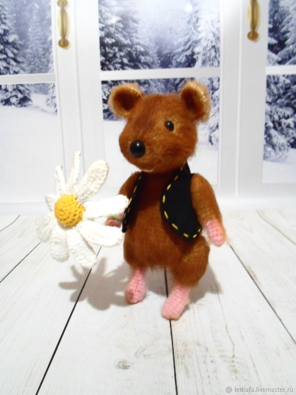 The mouse with the Daisy, Stuffed Toys, Ufa,  Фото №1