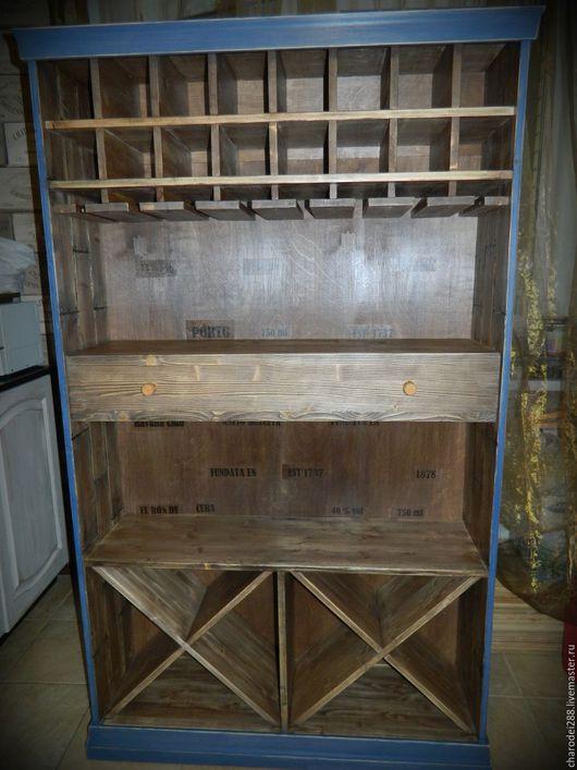 Мебель ручной работы. Ярмарка Мастеров - ручная работа. Купить Винный шкаф-стеллаж. Handmade. Комбинированный, мебель в стиле лофт