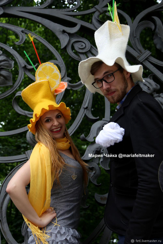 Карнавальная шляпа Лимонад Цилиндр из шерсти, , Москва, Фото №1