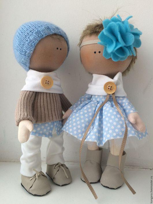 Коллекционные куклы ручной работы. Ярмарка Мастеров - ручная работа. Купить куклы. Handmade. Голубой, подарок, любовь, хлопок, сетка