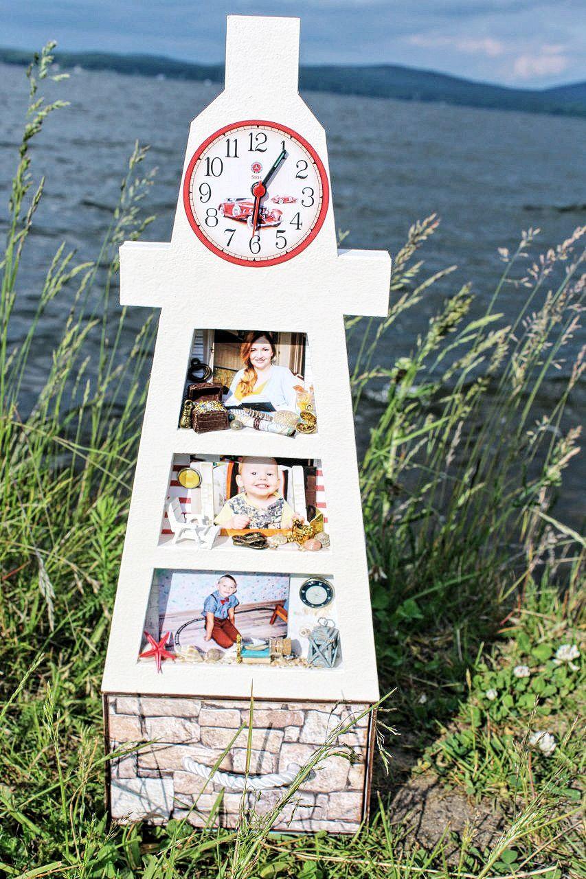 Мини-комод с часами Маяк, Фоторамки, Новоуральск,  Фото №1