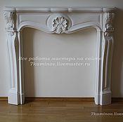 Для дома и интерьера ручной работы. Ярмарка Мастеров - ручная работа Каминный портал (декоративный фальш камин) из гипса КМР-200 цвет белый. Handmade.