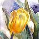 Наталия Хохлова. Жёлтые тюльпаны. Фрагмент.
