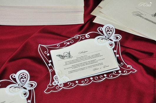 """Свадебные аксессуары ручной работы. Ярмарка Мастеров - ручная работа. Купить Пригласительные """"Бабочки"""" с персонализацией. Белые.. Handmade. Белый, крылья"""