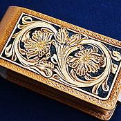Сумки и аксессуары handmade. Livemaster - original item Holster phone case with card departments. Handmade.