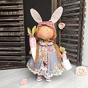 Куклы и игрушки ручной работы. Ярмарка Мастеров - ручная работа Текстильная кукла Зайка. Handmade.
