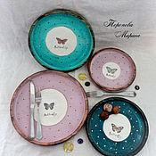 handmade. Livemaster - original item Cedar plates