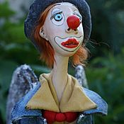 Мягкие игрушки ручной работы. Ярмарка Мастеров - ручная работа Ангел - Клоун, статичный. Handmade.