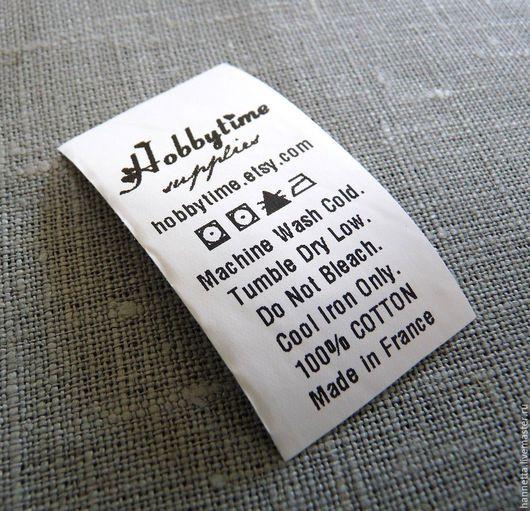 Упаковка ручной работы. Ярмарка Мастеров - ручная работа. Купить Бирки, составники, уходники полиэстер/ Polyester labels with your text. Handmade.