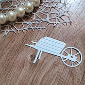 Материалы для творчества handmade. Livemaster - original item !Cutting scrapbooking Wheelbarrow garden design cardboard. Handmade.