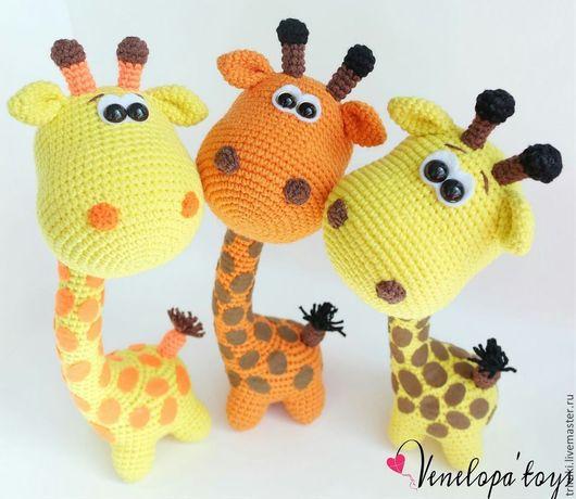 Игрушки животные, ручной работы. Ярмарка Мастеров - ручная работа. Купить Жирафики. Handmade. Жираф, игрушка, Пряжа хлопок с акрилом
