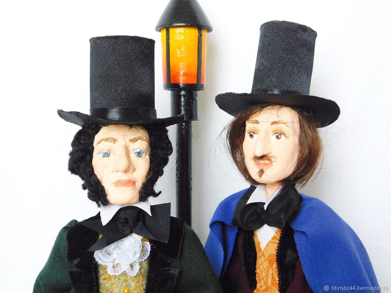 Портретные куклы ручной работы. Ярмарка Мастеров - ручная работа. Купить ПУШКИН и ГОГОЛЬ авторская кукла. Handmade. Коллекционная кукла